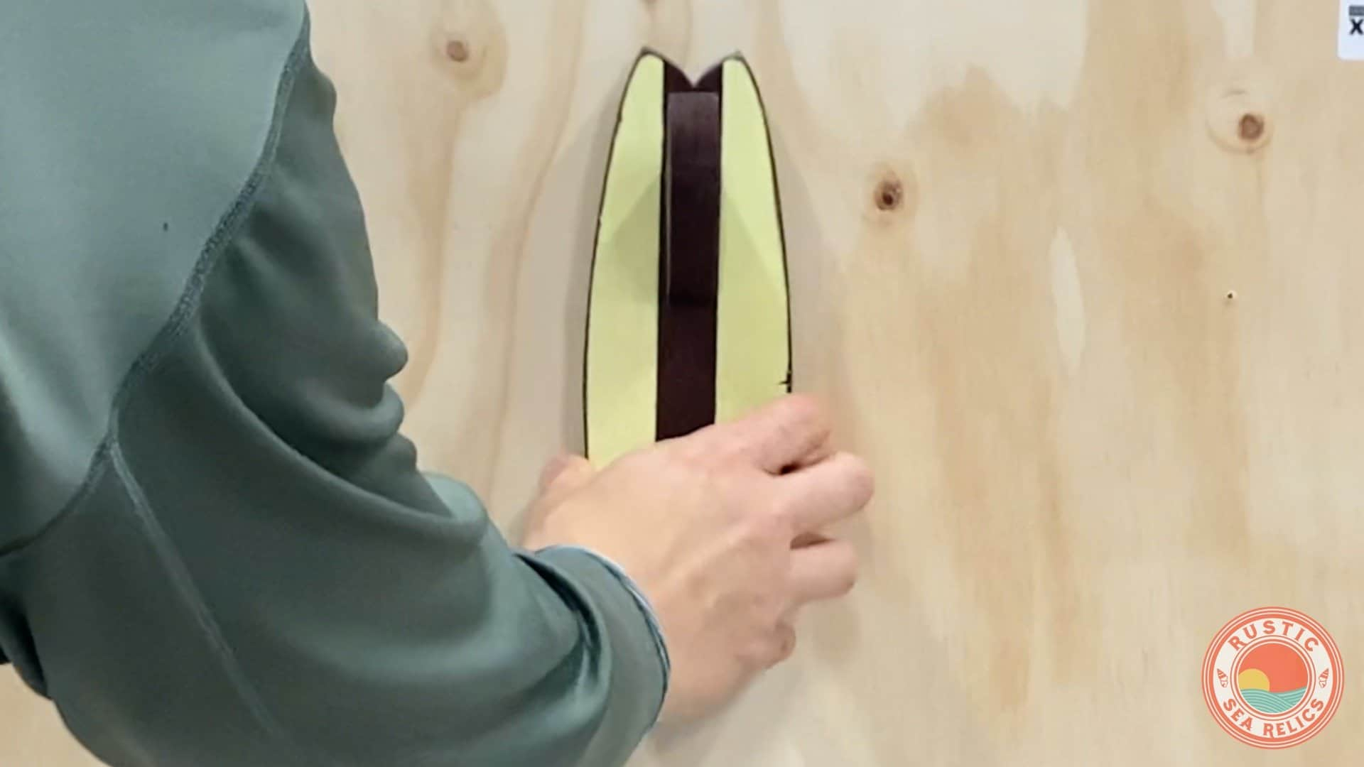 install surfboard towel holder using z clips