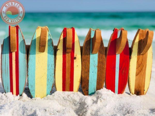 surfboard beach house decor