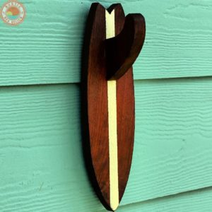 surfboard fin towel holder