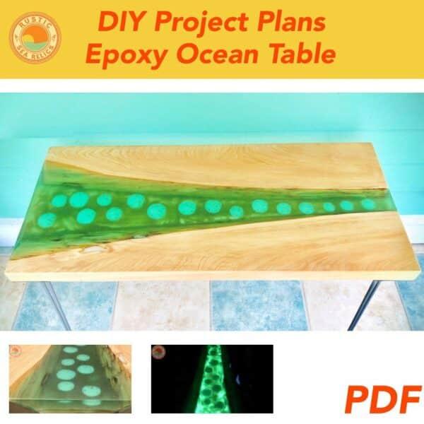 epoxy ocean table diy plan